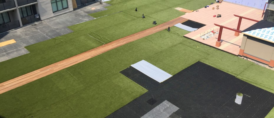 Artificial turf rolls in place by ForeverLawn Northern Ohio
