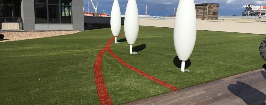 Artificial Grass Flats East Bank Roof