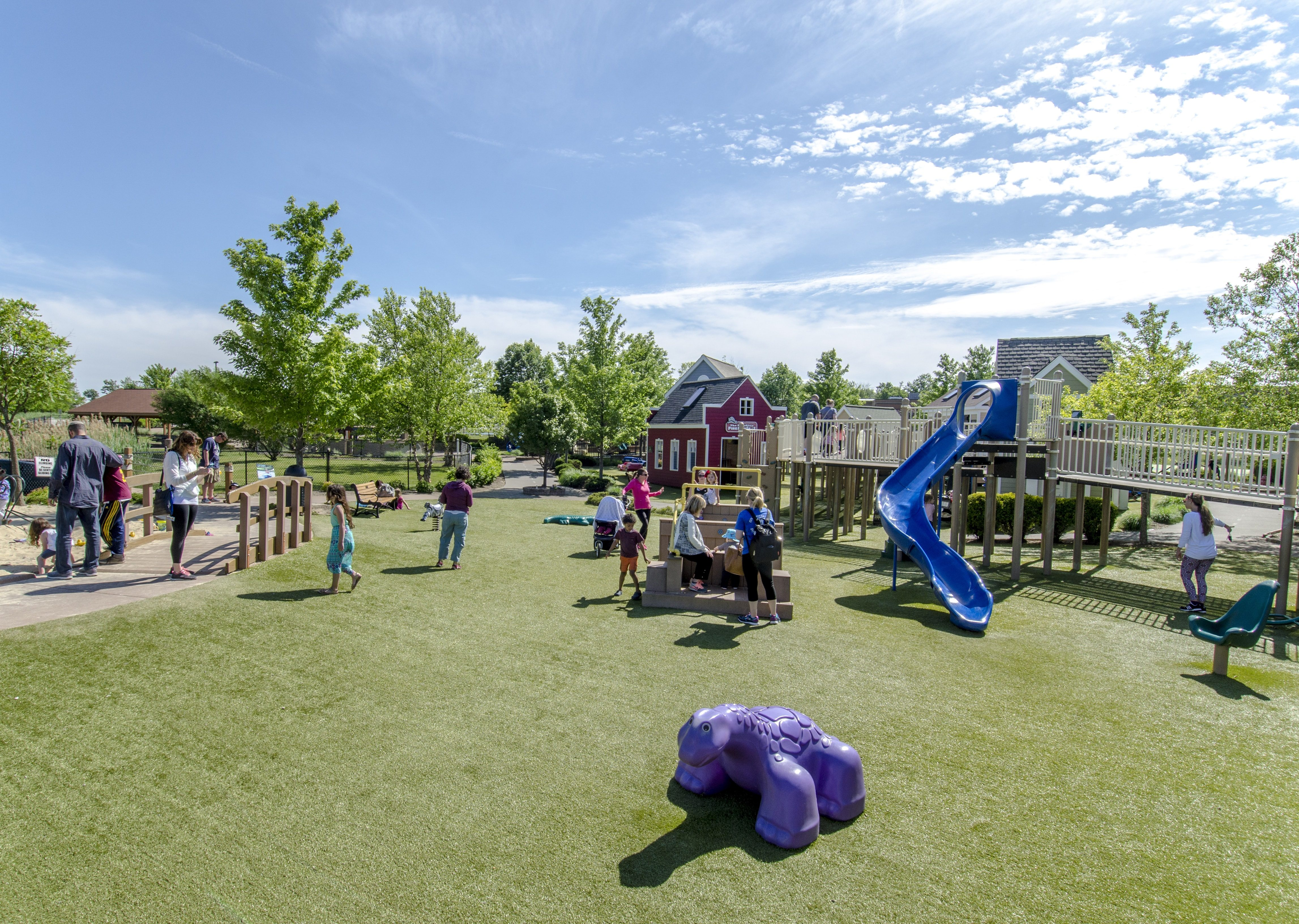 Preston's H.O.P.E. Playground Grass Installation